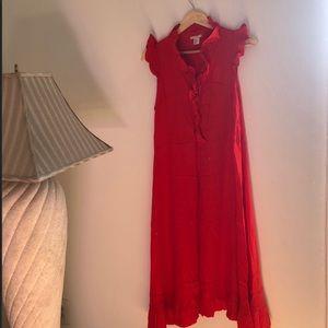 ☀️Maxi Dress Sale☀️ Orange Dress with Frill